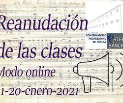 Reanudación de las clases en escenario III (Online)