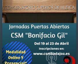 Jornadas de puertas abiertas en el Conservatorio Superior de Badajoz