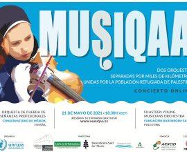 MUSIQAA, concierto online  por la población refugiada de Palestina