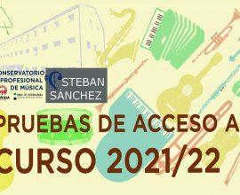 Listas de admitidos a las pruebas de acceso para el curso 2021/22