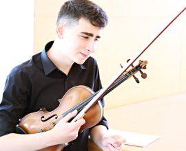 Miguel Angel González Morcillo. Premio Extraordinario en Violín y Música de Cámara
